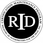 RID Certification Maintenance Program logo