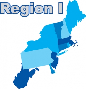 Map of Region 1 states