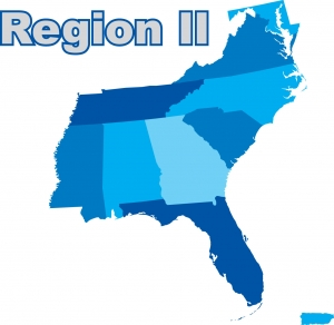 Map of Region II states