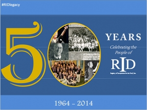 logo for 50 years of RID