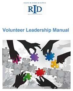 Front page of Volunteer Leadership Manual - shows a number of hands putting together a jigsaw puzzle.