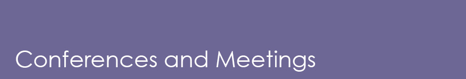 conferences and meetings section header