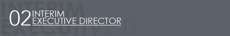 header - interim executive director