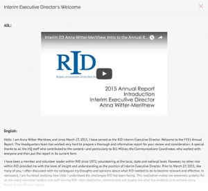 IED Annual report welcome thumbnail