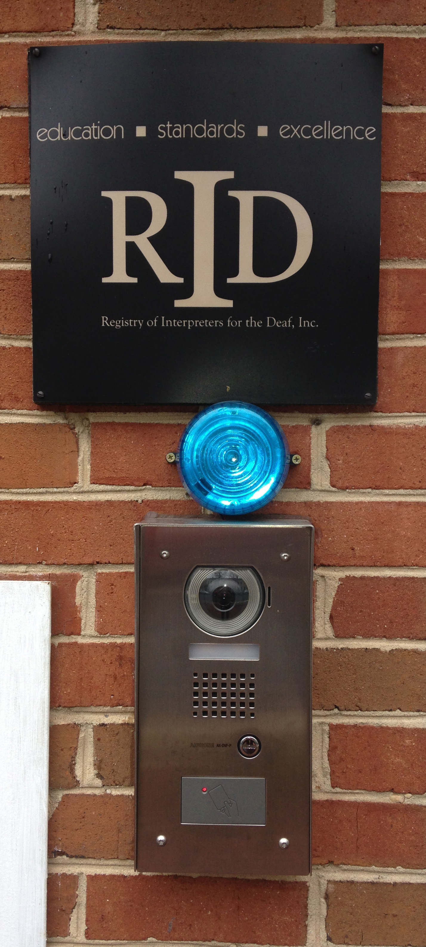 Outside view of new intercom