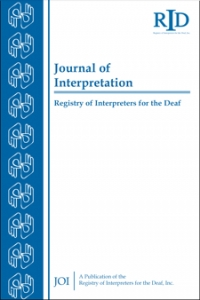 Journal of Interpretation (JOI) cover