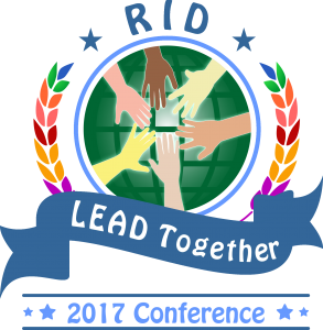 "RID National Conference Logo 2017 ""LEAD Together"""