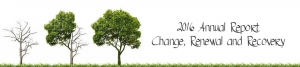 Annual Report Header - Change, Renewal, and Recovery