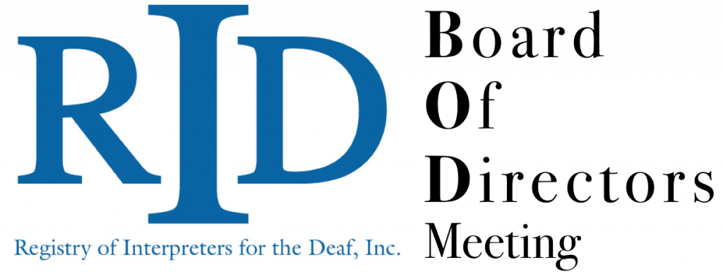 Board Meeting Agendas | Board Agendas Minutes Registry Of Interpreters For The Deaf