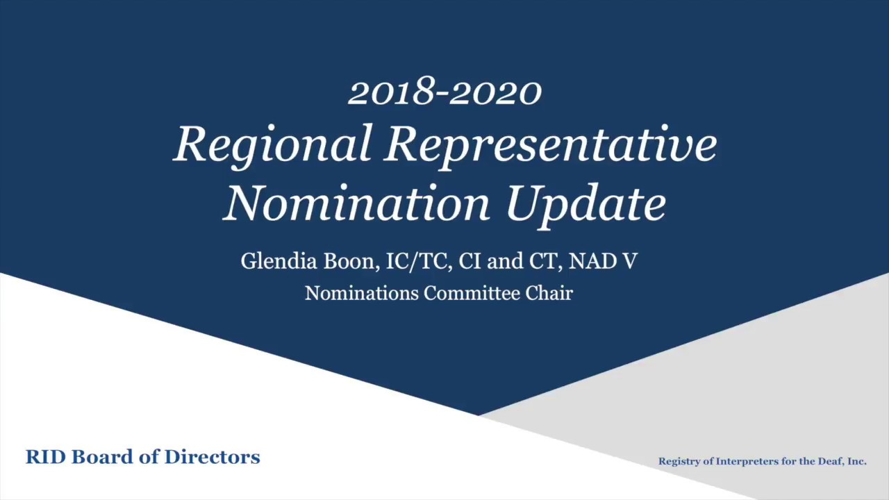 Motion H and Region Rep Nominations Announcement