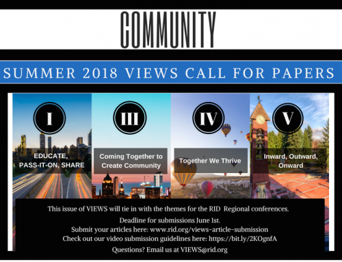 Summer 2018 VIEWS Call for Papers