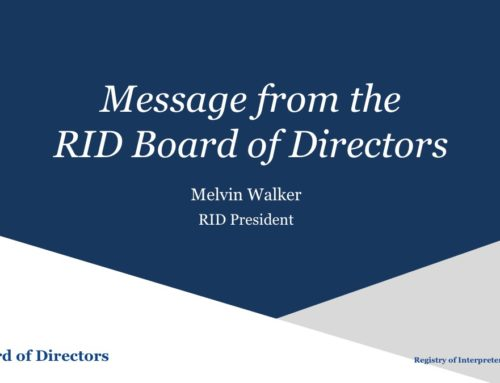 Message from the Board regarding the CEO