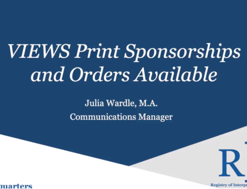 VIEWS Print Sponsorships and Orders Available