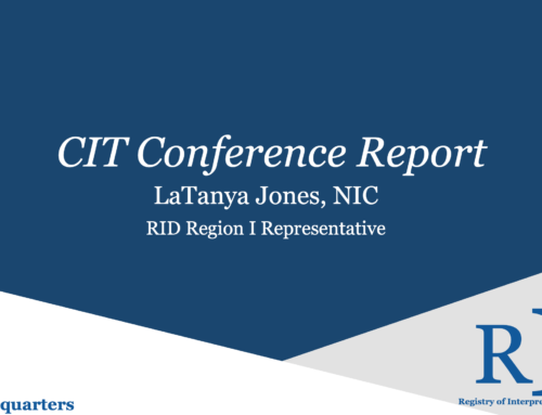 CIT Conference Report
