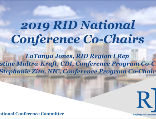 2019 RID National Conference Co-Chairs
