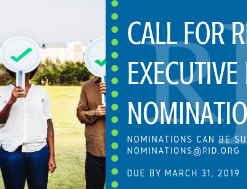 Call for RID Executive Board Nominations
