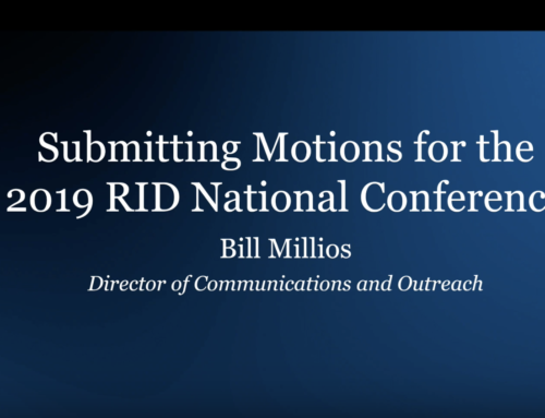 Submitting Motions to the 2019 National Conference