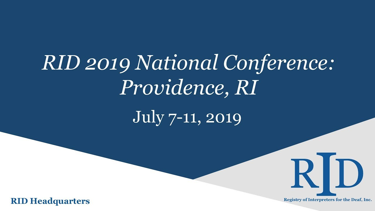 RID 2019 National Conference, Providence, RI – Registry of
