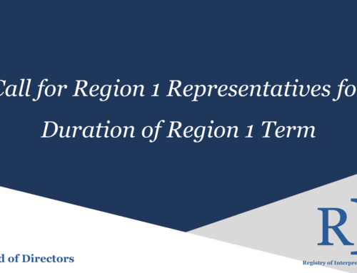 Call for Region I Representatives for the Duration of Region I Term