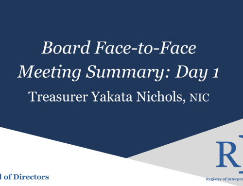 Board Face-to-Face Meeting Summary Day 1