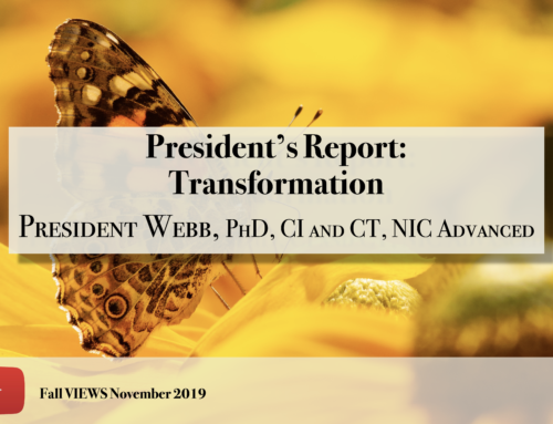 President's Report VIEWS Fall 2019